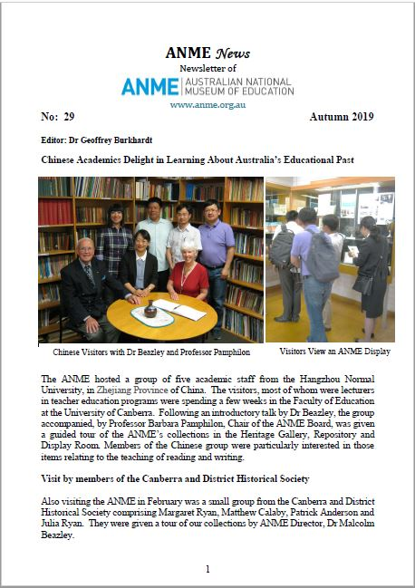 ANME Newsletter No. 29 Autumn 2019